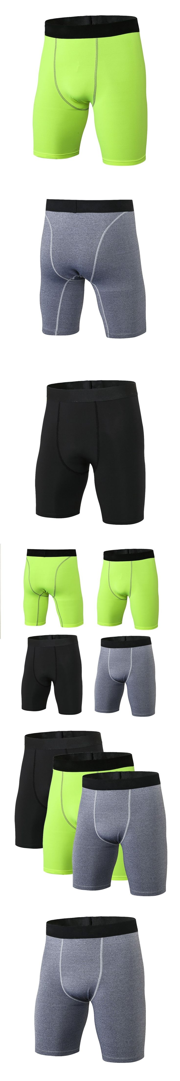 Leisure Men Quick Dry Compression Shorts Casual Men Bodybuilding Wear Base Layer Tights Trousers