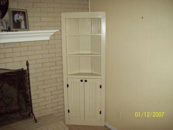 corner cabinet  cupboard furniture   reclaimed   rustic