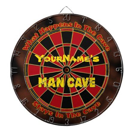 Personalized Name Man Cave Dartboard - click/tap to personalize and buy