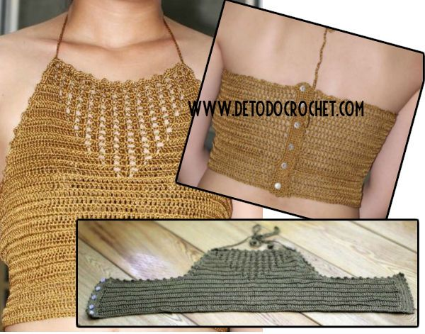cropped top crochet