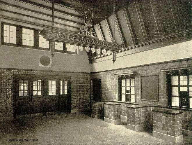 Empfangshalle U-Bahnhof Dahlem Dorf 1913