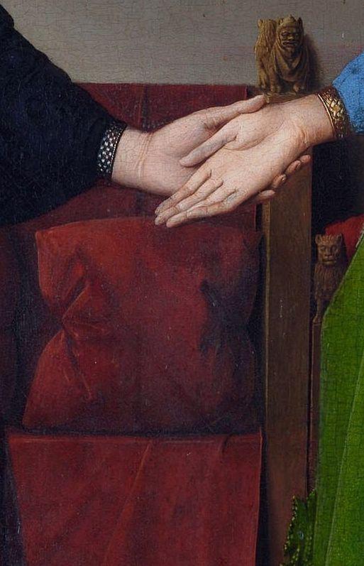 The Arnolfini Portrait (detail), Jan Van Eyck