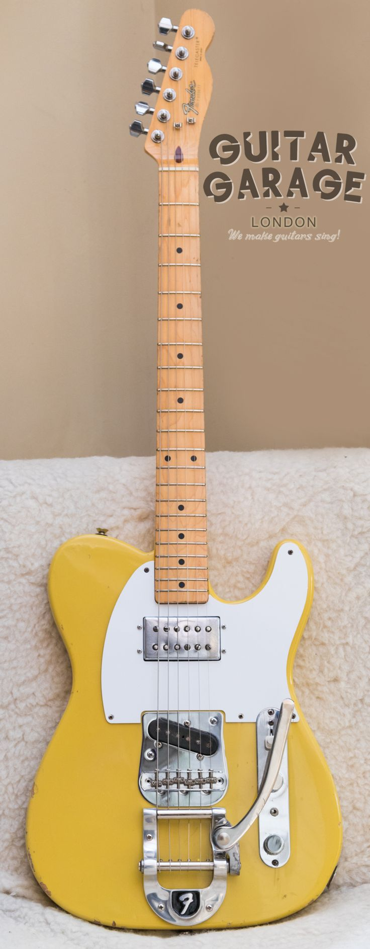 1986 Fender Japan Telecaster Custom Bigsby Wide Range humbucker