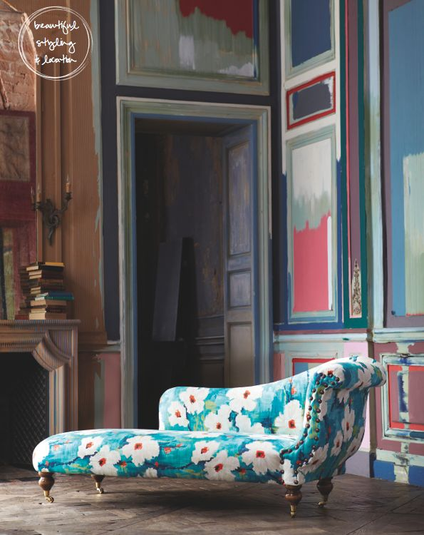 Yes: Chai Lounges, Harlequin Fabrics, Chaise Lounges, Bold Prints, Colors Mixed, Funk Patterns, Interiors, Lounges Sofas Floral, Floral Furniture