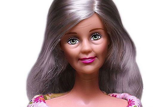 Image result for elderly barbie