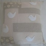 Natural Patchwork and Birds Scatter Cushion
