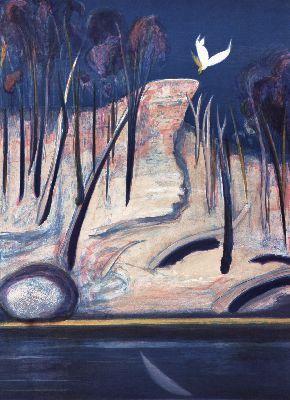 """""""Pulpit Rock Landscape"""" in 1994 by Arthur Boyd"""