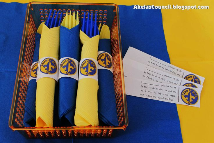 Akela's Council Cub Scout Leader Training: Paper Napkin Ring Printable for the Blue & Gold Banquet