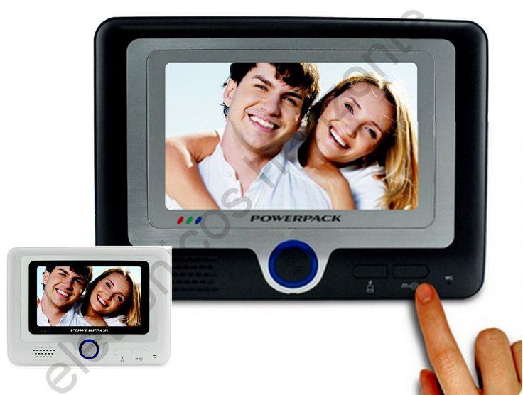 porteiro eletrônico vídeo 7 colorido visão noturna infra ver
