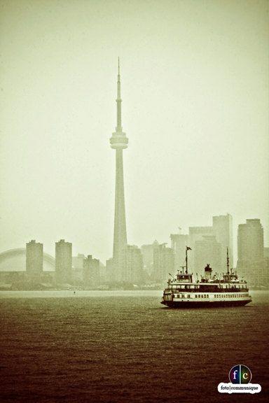 Vintage Toronto Ferry & Skyline Photograph. $26.00, via Etsy.