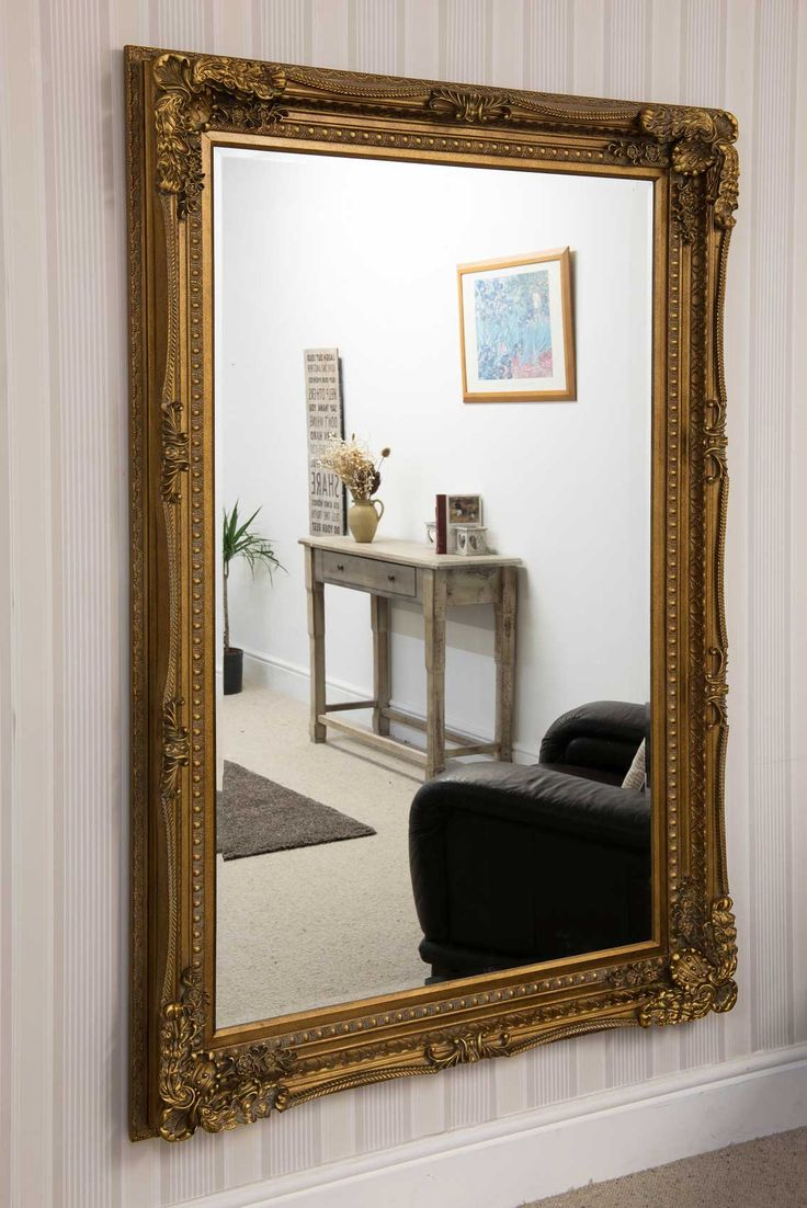 Charlton Gold Framed Mirror 123x175cm - Soraya Interiors UK