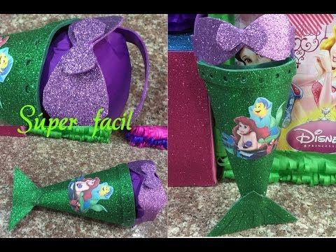 Dulcero cartera de la Sirenita, birthday bag little mermain - YouTube