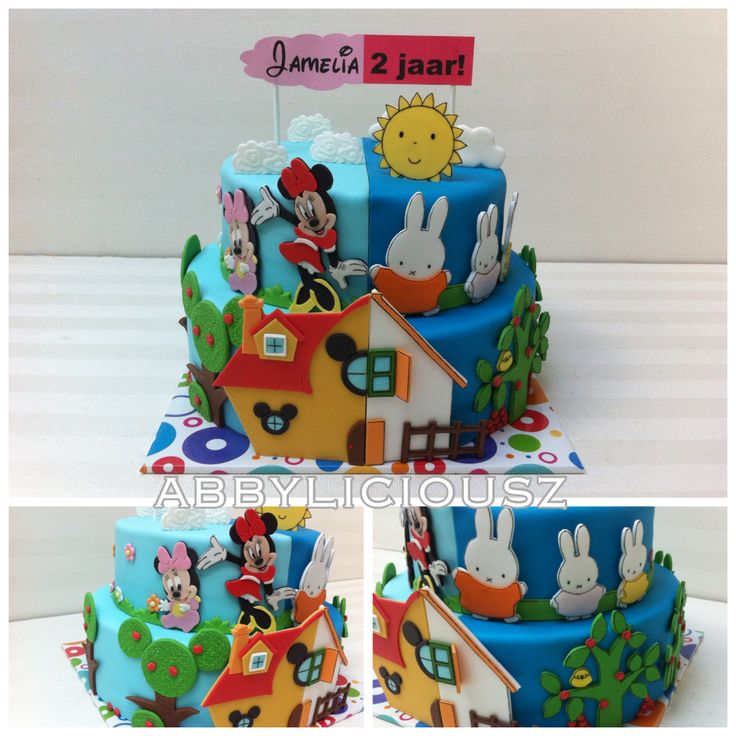 Minnie/Miffy cake...