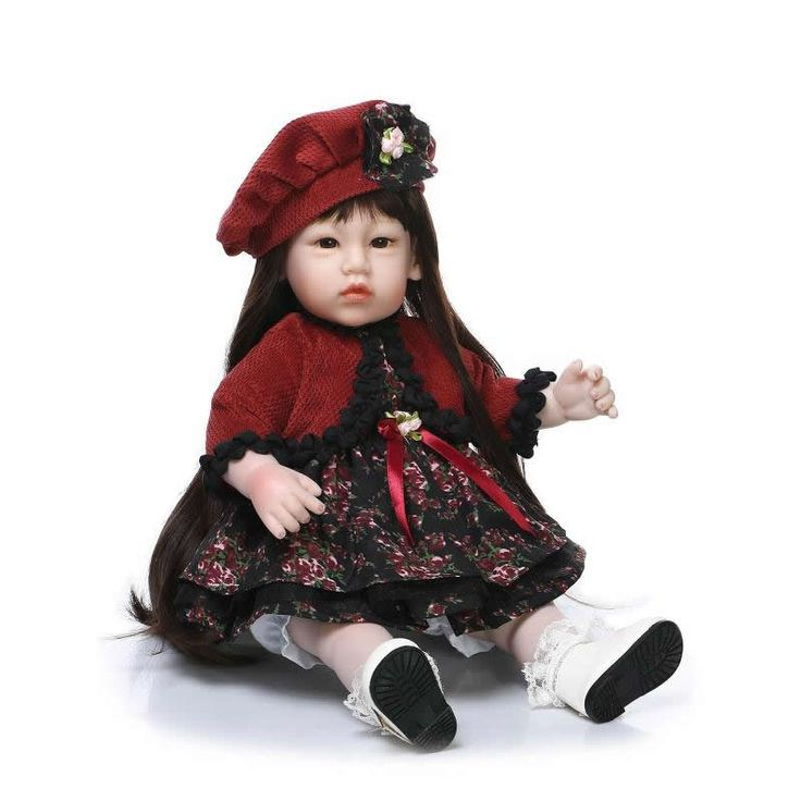 81.59$  Buy here - http://alie80.worldwells.pw/go.php?t=32732268185 - New 20 Inch 50 cm Silicone Vinyl Baby Dolls Reborn For Sale Cheap Cute Girls Babies Dolls Real Touch Realistic Brinquedo 81.59$