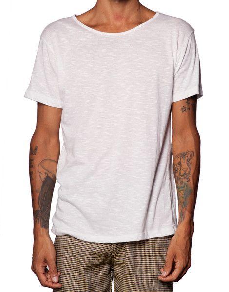 FRANKSLAND Snow White Tee - Mens Cotton Linen Tshirt