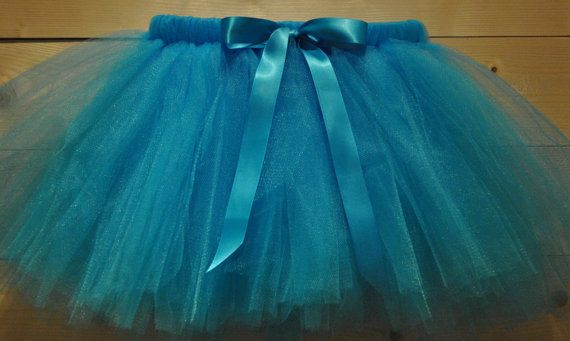 Turquoise blue Tutu with Satin Bow dressing up by BeautifulGreys, £15.00