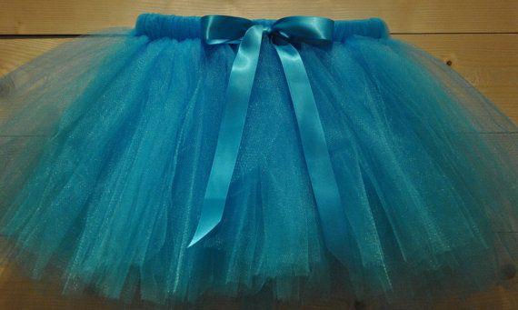Turquoise blue Tutu with Satin Bow dressing up by BeautifulGreys, £15.00