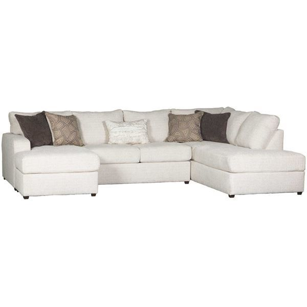 Amplify Beige 2 Piece Laf Sofa Chaise Sectional Beige Sectional