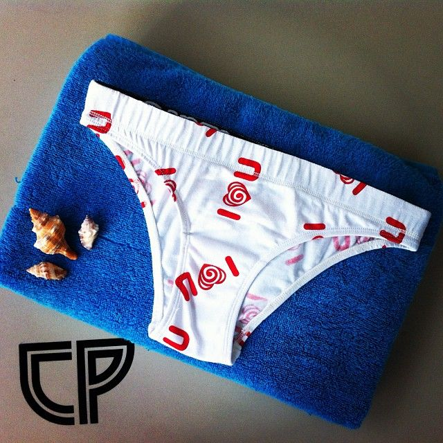 "CP ""I love u""  Sweety Red & White #underwear"