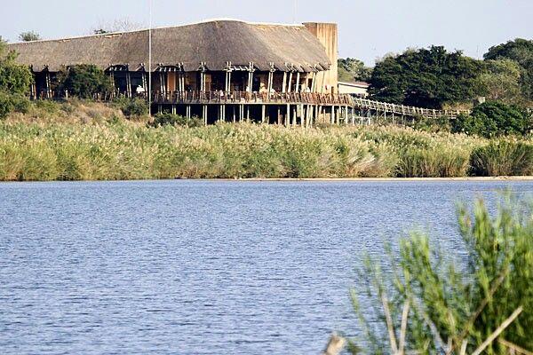 Lower Sabie camp on the Sabie River, South Kruger N P, South Africa.