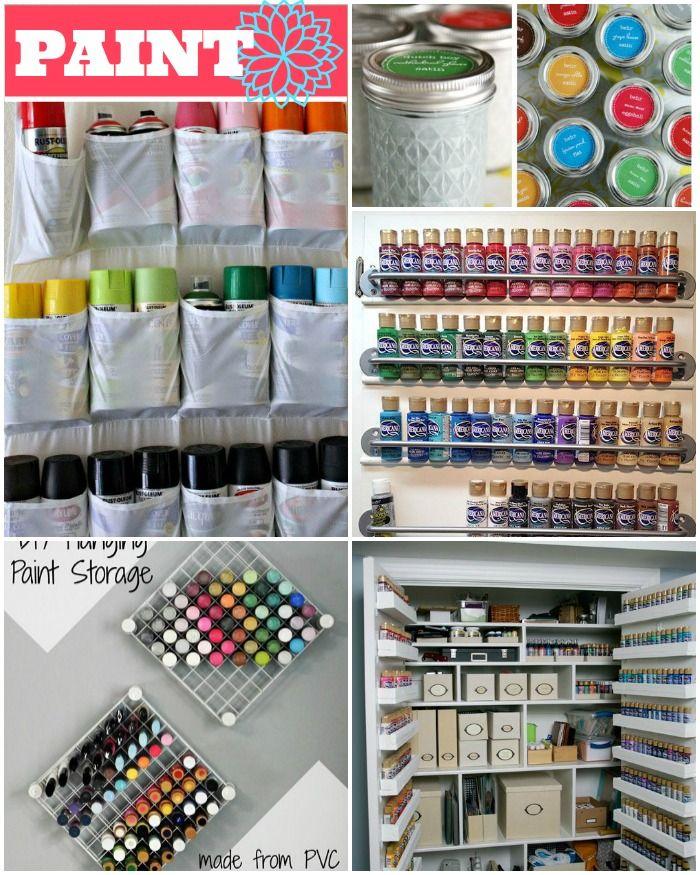 Quelques idées pour organiser votre peinture!