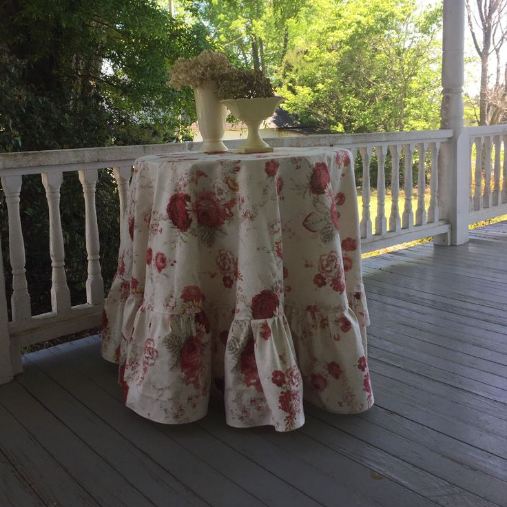 Custom Tablecloth - Waverly Norfolk Rose - please contact me with your idea and let me help you make it happen.  www.misshettie.etsy.com