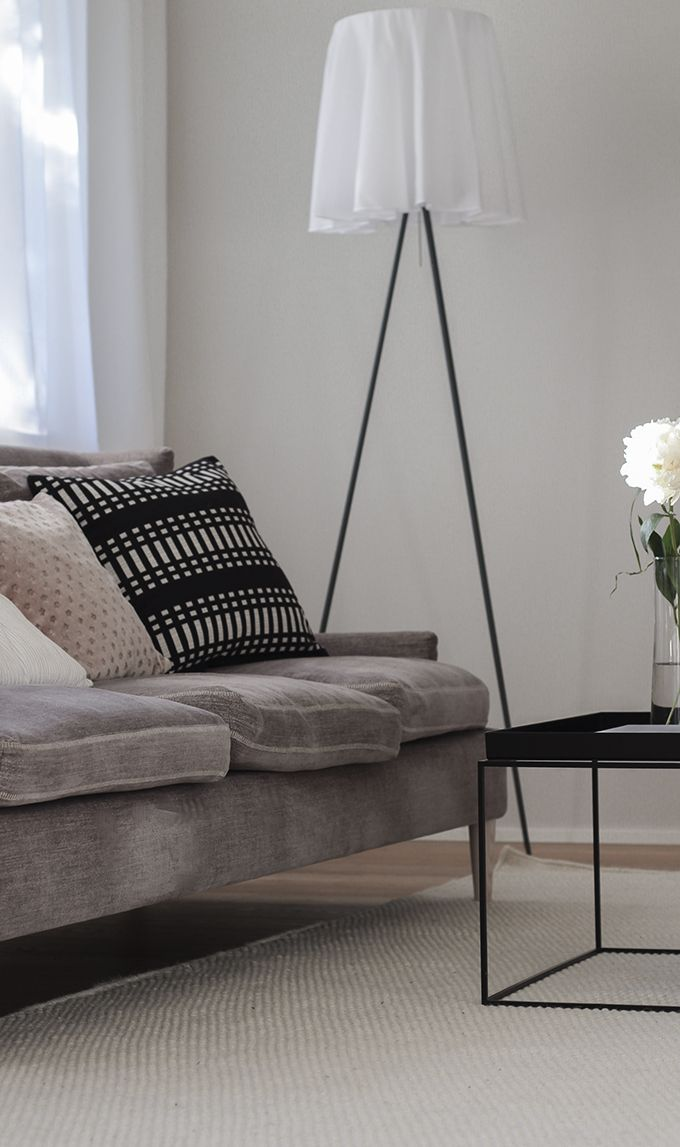 Bright modern classic living room.