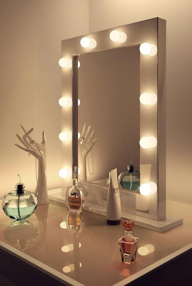 Diy Vanity Mirror With Led Lights Bathroom Small Simple Frame