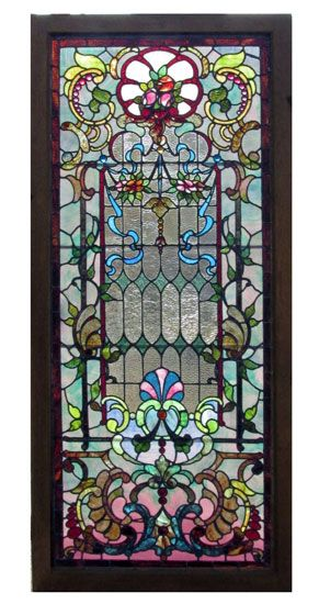 SOLD - Stained Glass Landing Window - Wooden Nickel Antiques