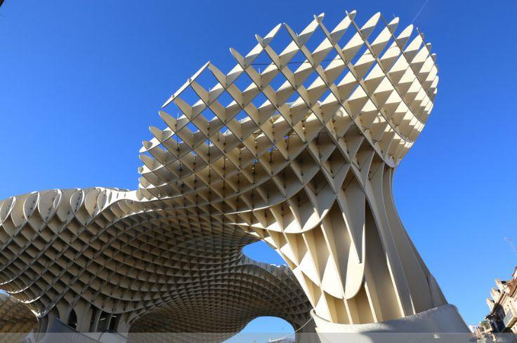 """A berlini J.Mayer H Építészek tervezése """"Urban esernyő"""" projektet március 27, 2011 hivatalosan megnyitotta. Ez esernyő body building lesz a központja Sevilla mérföldkő, ami a kulturális központ a város.jpg (750×499)"""