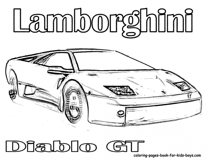 exotic cars coloring pages - photo#46