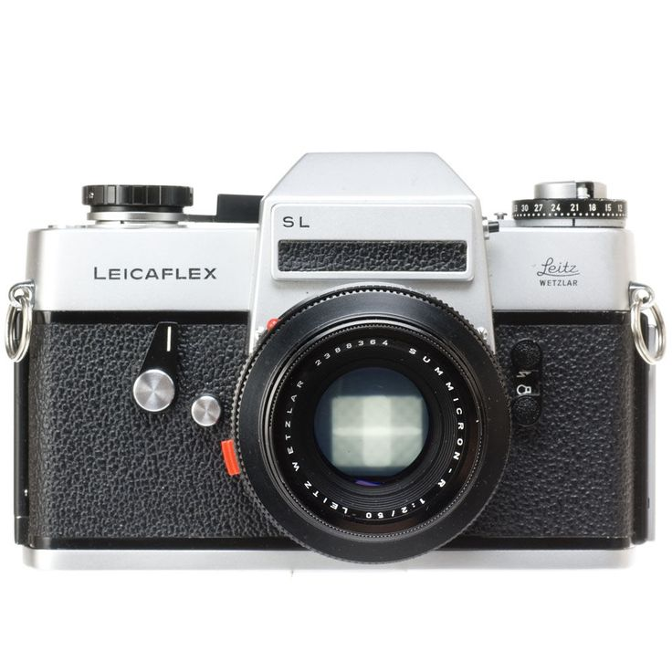Leica SL 35mm Manual Focus 35mm Manual Focus Camera (Chrome) with 50mm F/2 Summicron R 2-Cam Lens (Meter Off)
