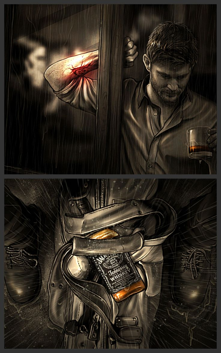"Sam Winchester's Journal - Entry #46bis ""Something else is hurting you – that's why you need pot or whiskey, (…) or screaming music turned so ******* loud you can't think."" —  Charles Bukowski  -- The top picture... I can feel the desolation... amazing art"