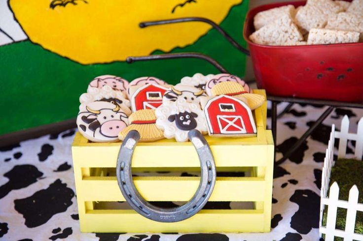 Awesome cookies at a farm birthday party! See more party ideas at CatchMyParty.com!