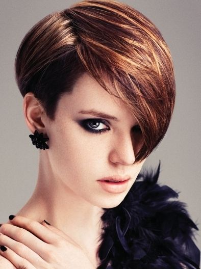 I do not like this cut at all for me but I pinned an adorable dark brown shag cut a few minutes ago..this would be beautiful with that...........Super-Glam Hair Color Ideas - Hairstyles And Haircuts - Zimbio