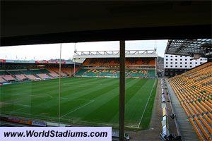 Carrow Road Stadium in Norwich