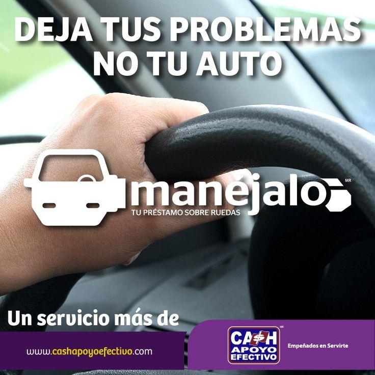 ¿Necesitas dinero? En #Manéjalo te prestamos hasta 70% del valor de tu auto, y lo mejor, es que no tienes que dejarlo