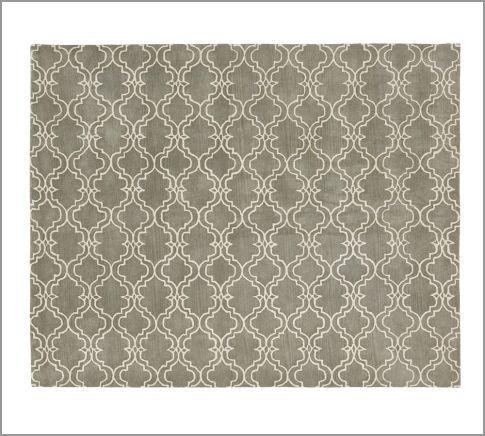 Scroll Tile Rug Gray Pottery Barn Pottery And Rugs