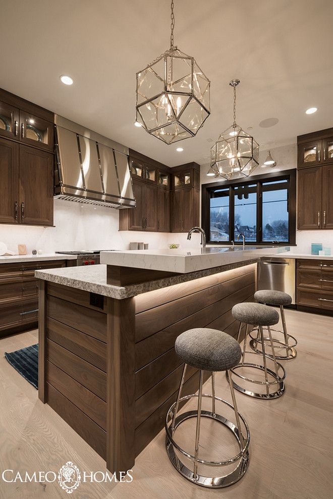 Kitchen With Morris Pendants From Circa Lighting. Cameo Homes Inc.