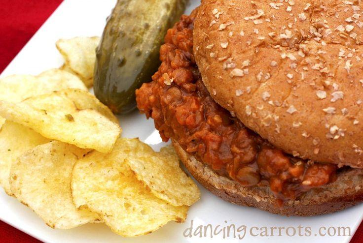 Vegetarian Sloppy Joe recipe with lentils & brown rice