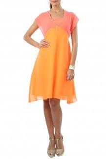 Sugar Candy Pink orange Neon dress