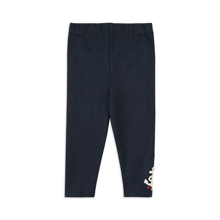 RALPH LAUREN Baby Girls Nautical Leggings - Navy Ralph Lauren baby girls leggings takes inspiration from the nautical trend. The leggings feature an elasticated waist with nautical themed embroidery on the leg.