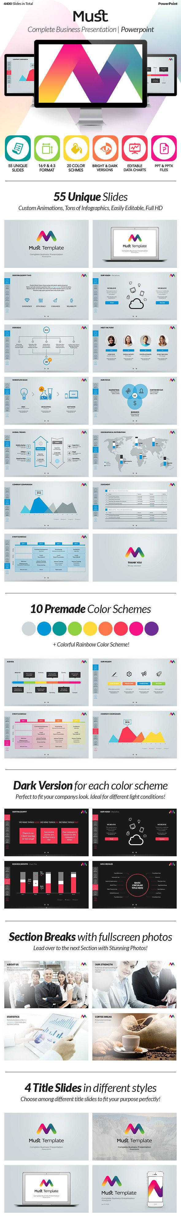 Must PowerPoint & Keynote Presentation Template by Ergün, via Behance