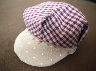とっても簡単キャスケット!の作り方 帽子 ファッション小物 ハンドメイド   アトリエ
