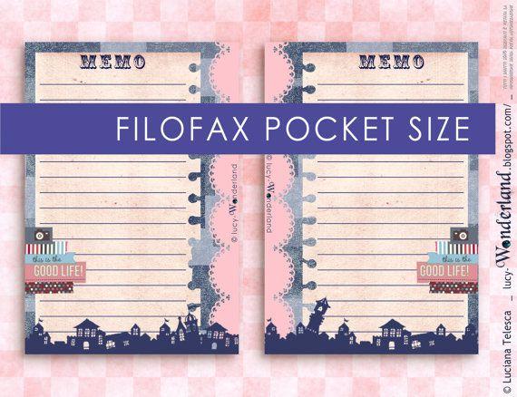 Printable Memo page for FIlofax pocket size #filofax #planner #printable #filofaxgoodies #filofaxprintable