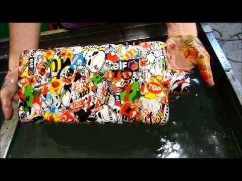 Water Transfer Printing ou Impressão hidrográfica Sticker Bomb - YouTube