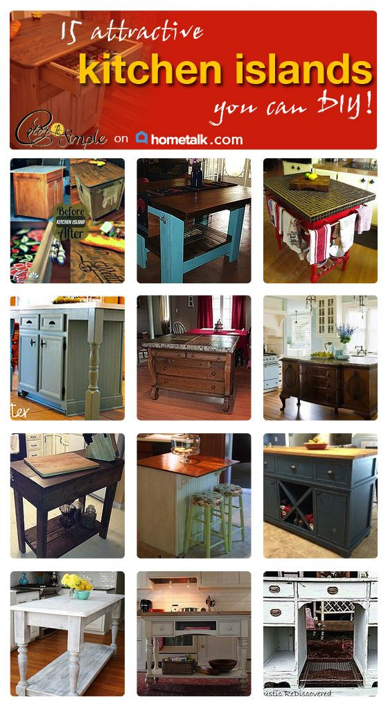 Creating A Kitchen Island: Create Your Very Own Kitchen Islands! Here Are 15 Great