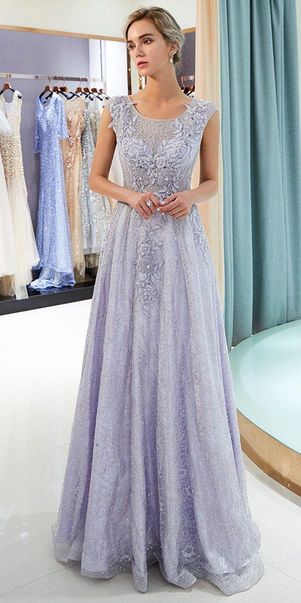 4bea2ae24957a Fabulous Lace Scoop Neckline A-line Formal Dress With Lace Appliques ...