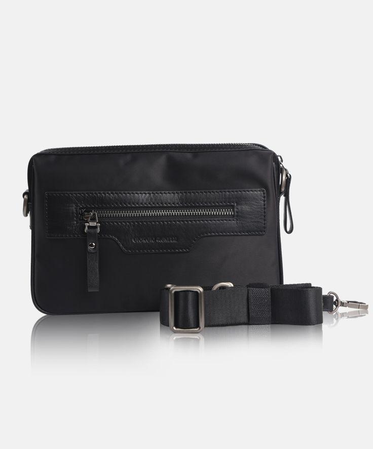 Giorgio Agnelly Men's Bag Bergamo 8791-6 Black #men #bag #clutch #leather