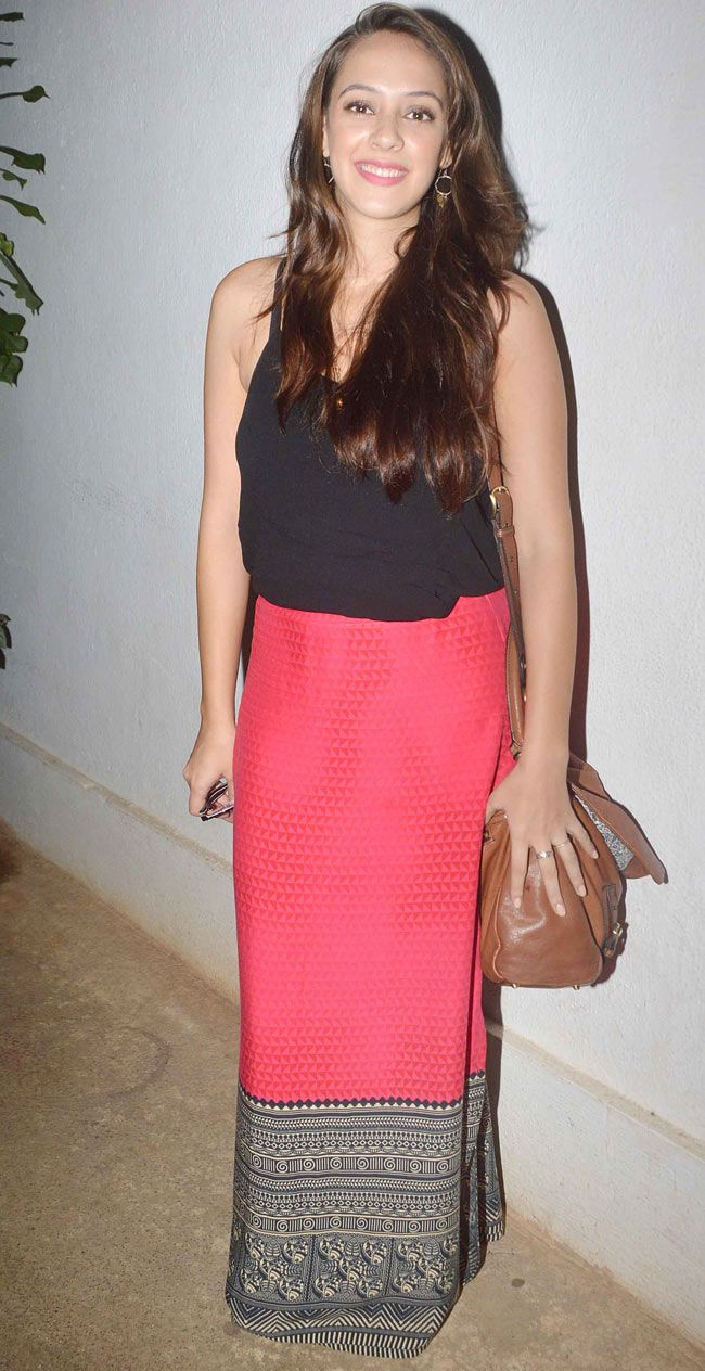 Hazel Keech at the special screening of 'Sonali Cable'. #Bollywood #Fashion #Style #Beauty